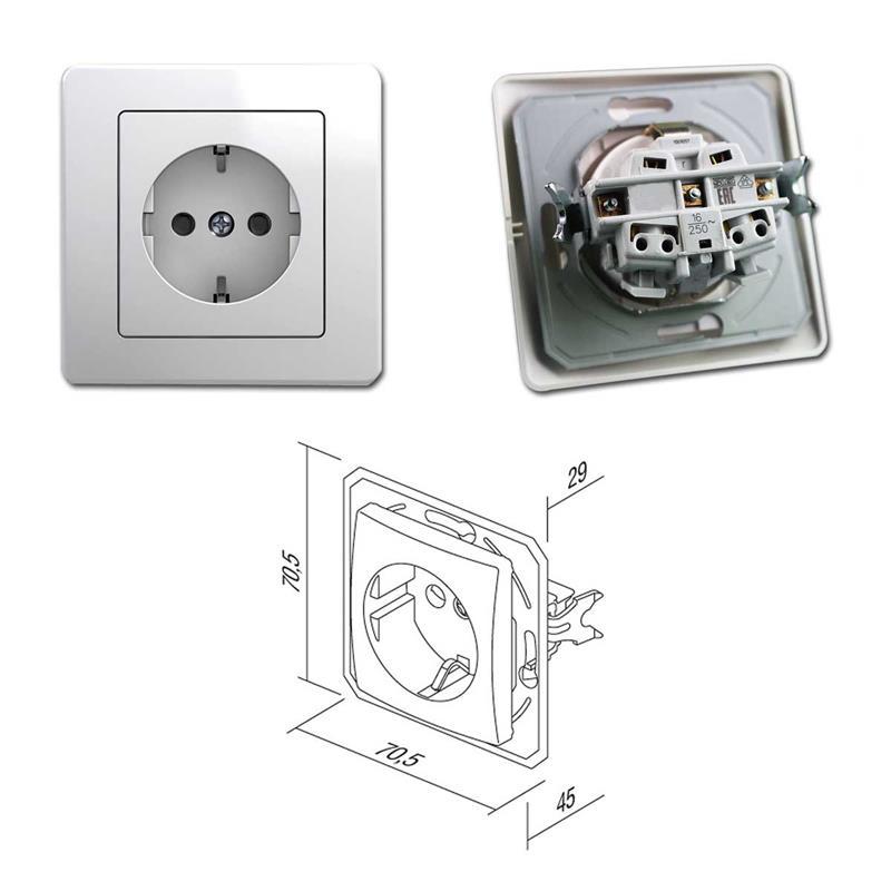 EKONOMIK Set Tür 3-fach | 4-teilig, weiß, Schalter/Steckdose