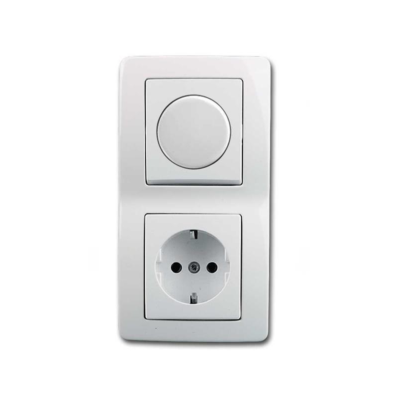 EKONOMIK Kombination LED-Dimmer & Steckdose | weiß