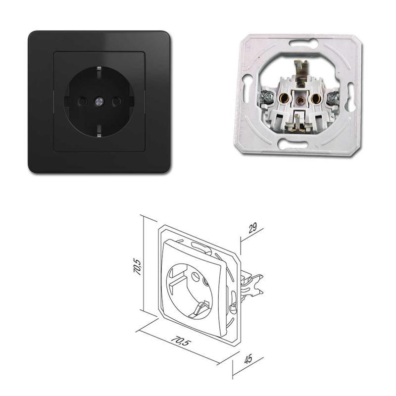 EKONOMIK Kombination LED-Dimmer & Steckdose | anthrazit