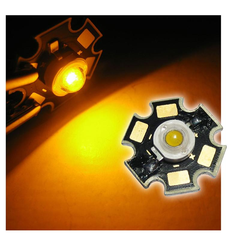 1 high power LED 3W, yellow,on PCB