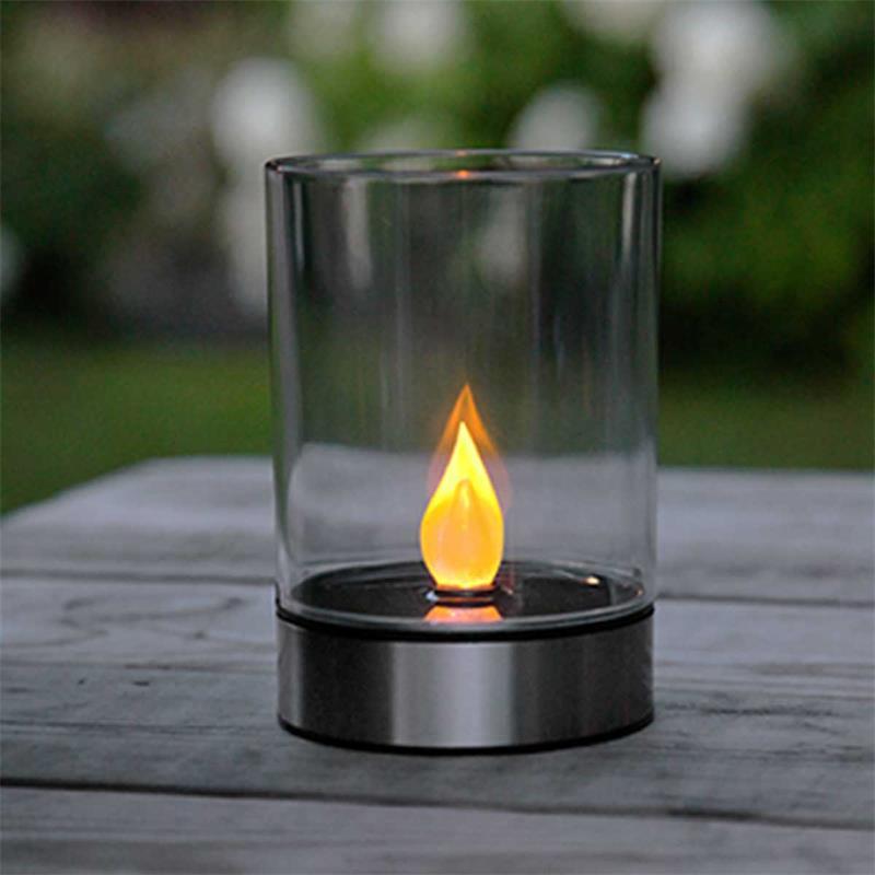 Solar LED windlight TOULON | stainless steel | outdoor light