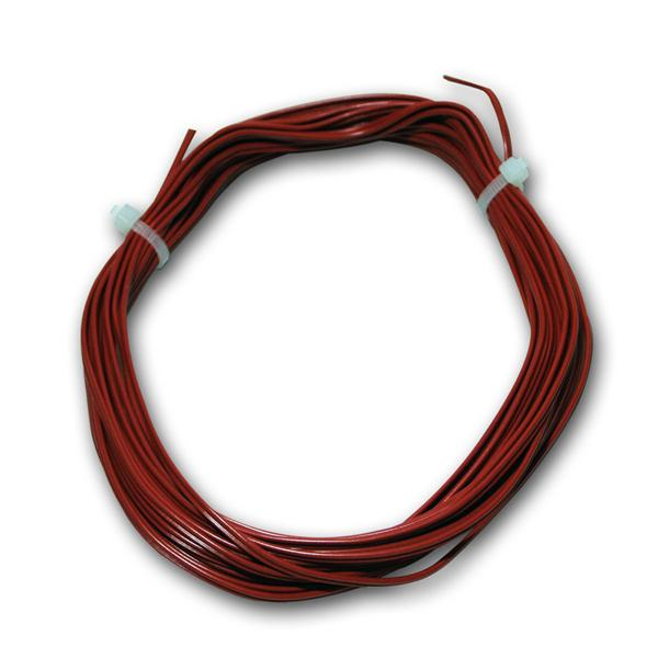 5m Zwillingslitze 0,14mm² Kupferlitze rot Kabel