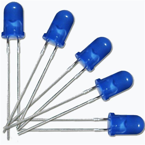 Leuchtdiode mit blauen diffusen Gehäuse, Ø5mm