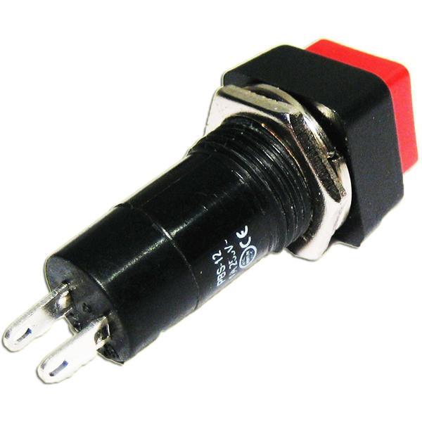 Drucktaster, 4-eckig, 15x15x40mm 250V/1A Schließer