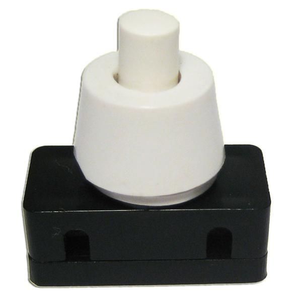 Druckschalter 1-polig EIN/AUS 250V/2A weiß