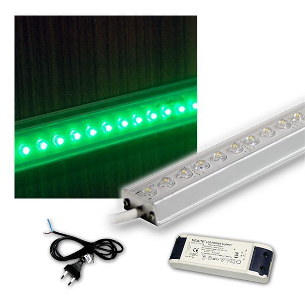 SET 4x50cm LED Alu-Leiste mit Zubehör GRÜN