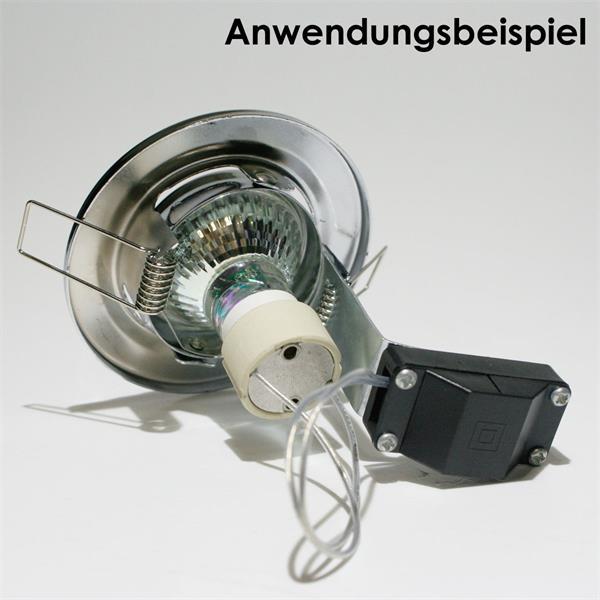 GU10 Einbaurahmen mit LED Leuchtmittel