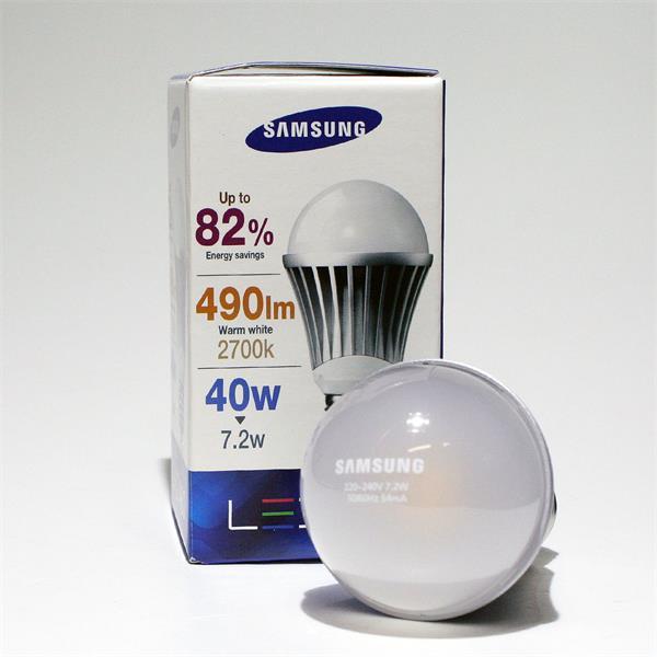 LED Leuchtmittel mit dem Sockel E27 für 230V und nur ca. 7,2W Verbrauch