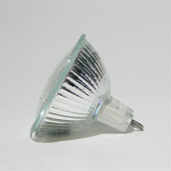 MR16 LED Energiesparleuchte mit dem Maß 50x51mm und abschließende Front mit Glas-Cover