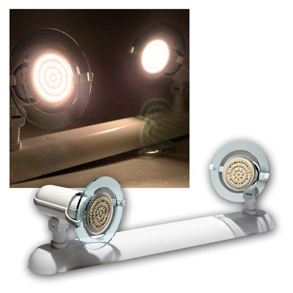 """Top P"" Leuchte weiß, 2-flg E14, warmweiß, 60 LEDs"