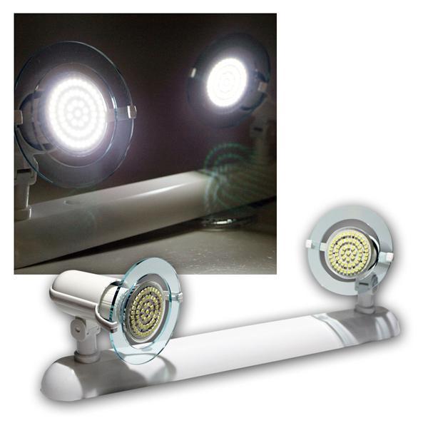 """Top P"" Leuchte weiß, 2-flg E14, kalt-weiß 60 LEDs"