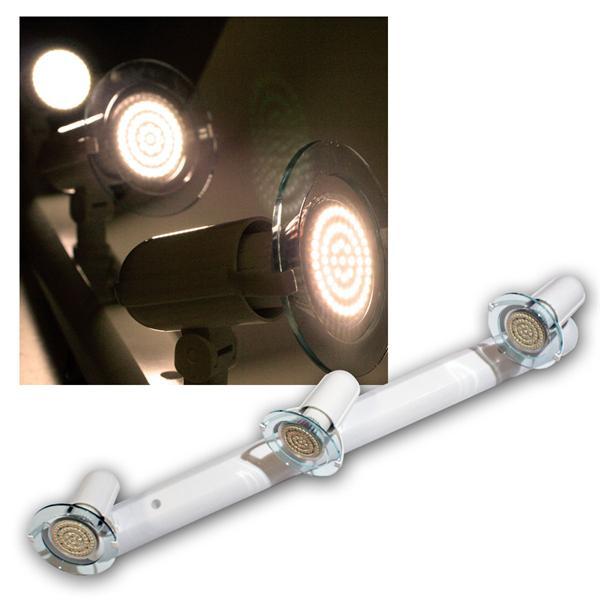 """Top P"" Leuchte weiß, 3-flg E14, warmweiß, 60 LEDs"