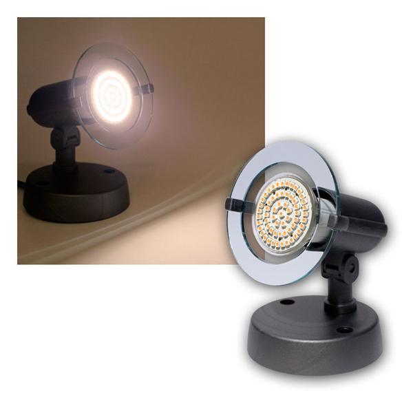 """Top P"" Spot grau, 1-flg E14, warmweiß, 60 LEDs"