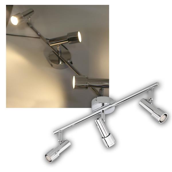 LED Deckenleuchte/Spot 3x 2W G9 warmweiß, Chrom