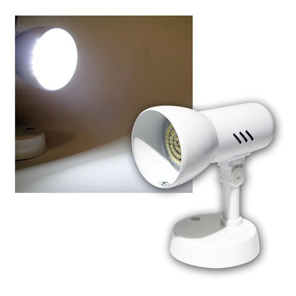 """""""Tramp P"""" Decken-Spot 1-flg E27, kaltweiß, 60 LEDs"""
