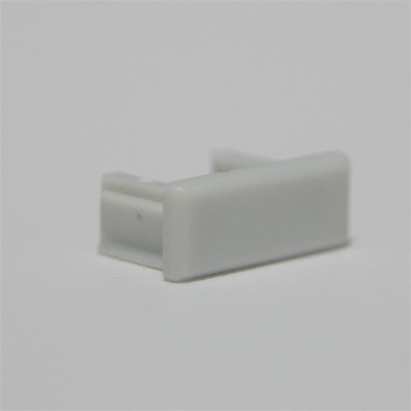 Graue Kunststoff-Endkappe für LED Aluminium-Profile