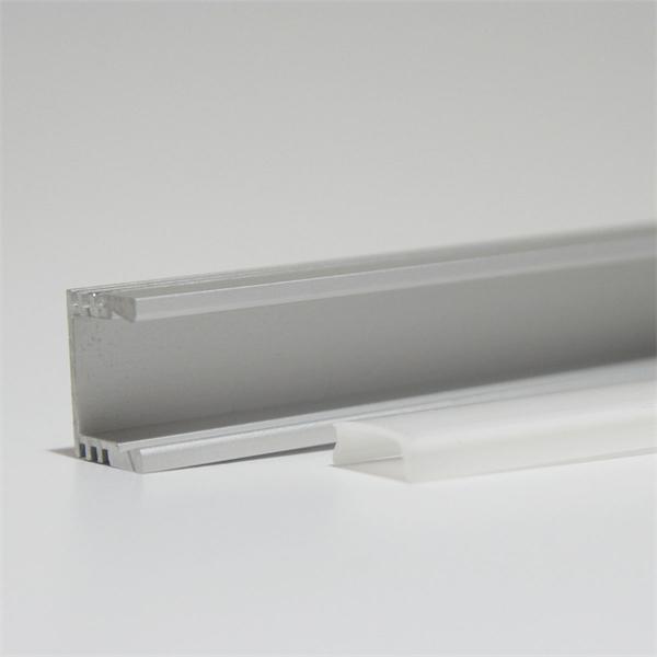 Universal verwendbares Aluprofil mit milchiger Abdeckung für LED Streifen