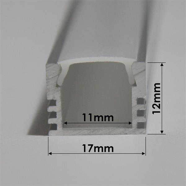 1m langes und 12mm hohes Aluprofil für LED-Streifen
