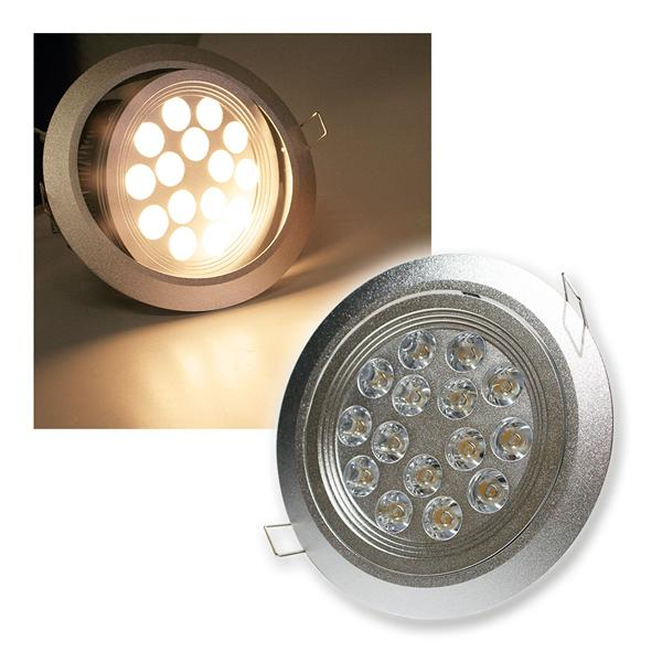 LED-Einbaustrahler 15x 1W Edison warm weiß 24V DC