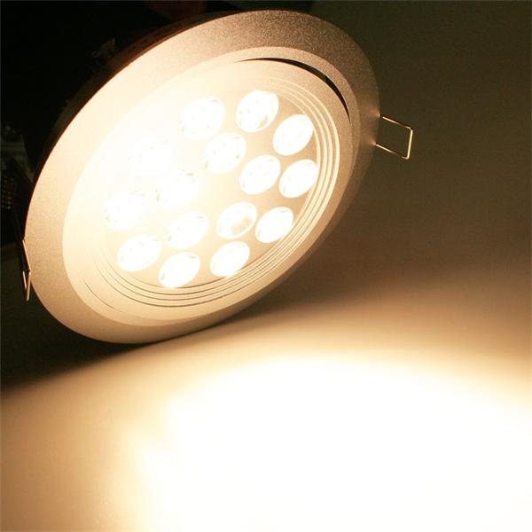 LED Einbauspot 24V mit 15 warm-weiß Hochleistungs-LEDs und 1050lm Lichtstrom