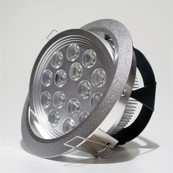 24V LED Einbaustrahler schwenkbar im silber-eloxierten Aluminiumgehäuse