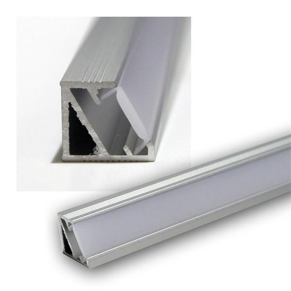1m LED Aluminium-Profil Starline-Mikro, Opal