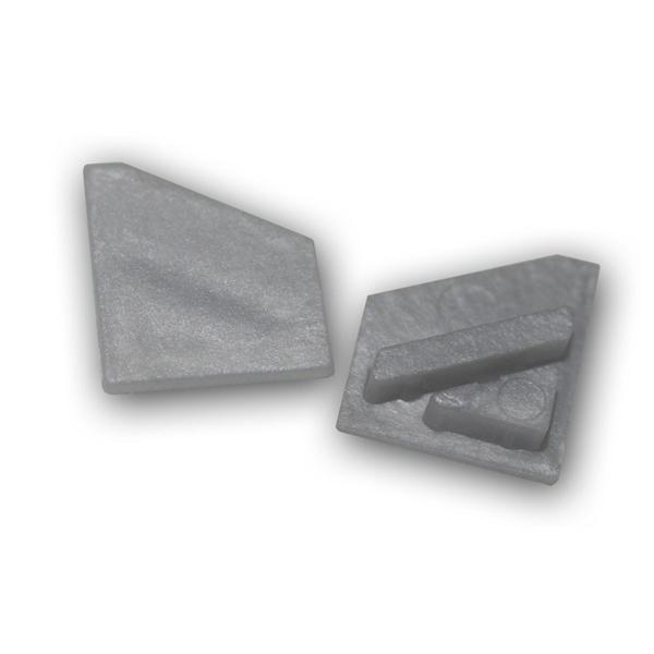 1 Paar Endkappen f Aluminium-Profil Starline-Mikro