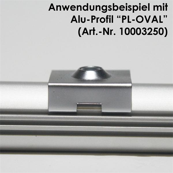 Halteclip zur Befestigung von Aluminiumprofilen