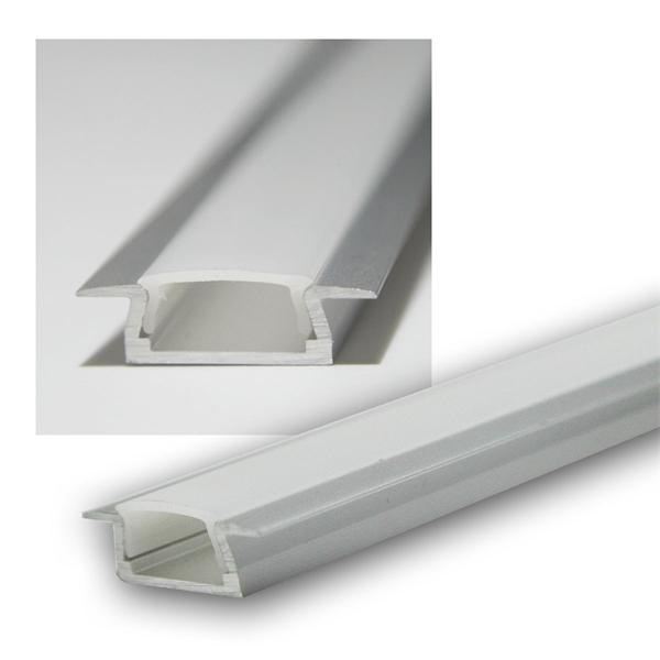 """1m LED Aluminium-Profil """"PL-Mini DOU"""" eloxier OPAL"""