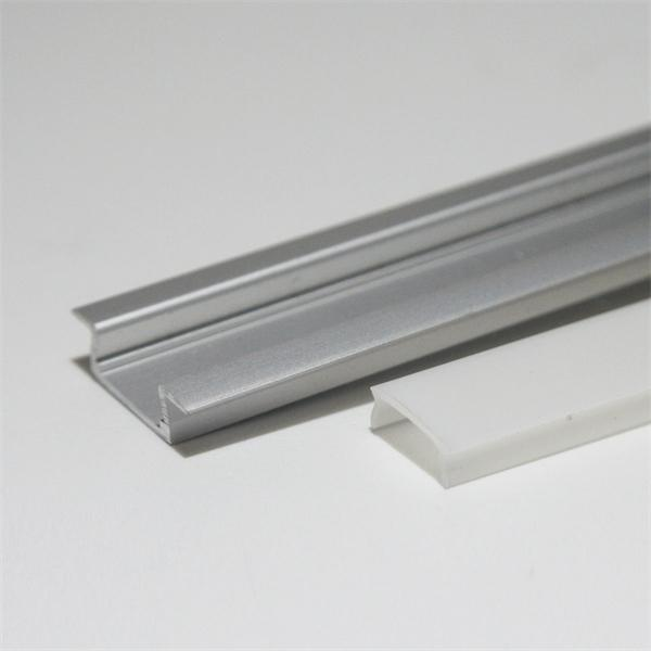 1m eloxiertes LED-Alu-Profil mit milchiger Abdeckung