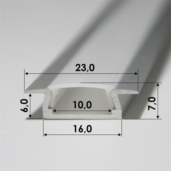 1m langes Aluminium-Profil, 7mm hoch