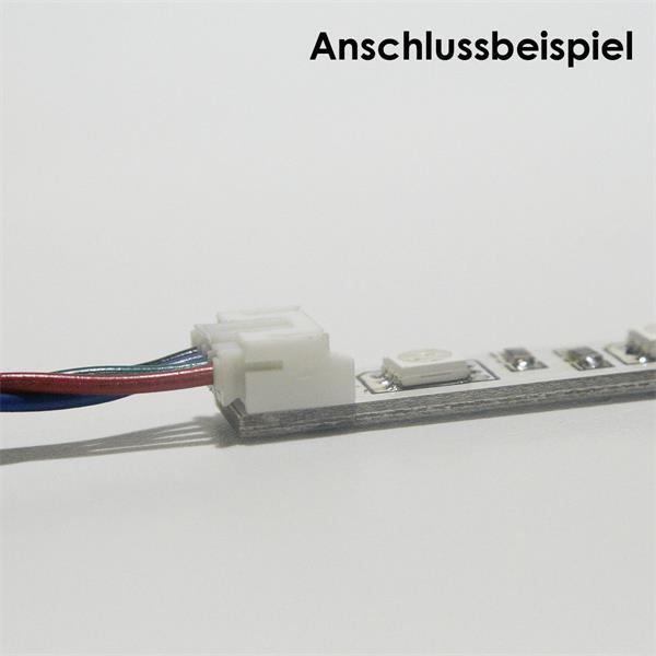 LED Lichtleiste mit Anschlussklemmen an beiden Seiten für 12V