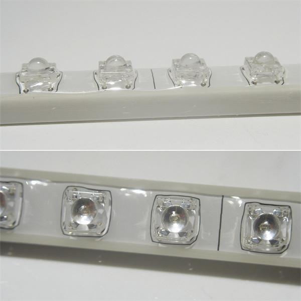 LED Lichtleiste aus Kunststoff mit fest eingegossenen SuperFlux LEDs
