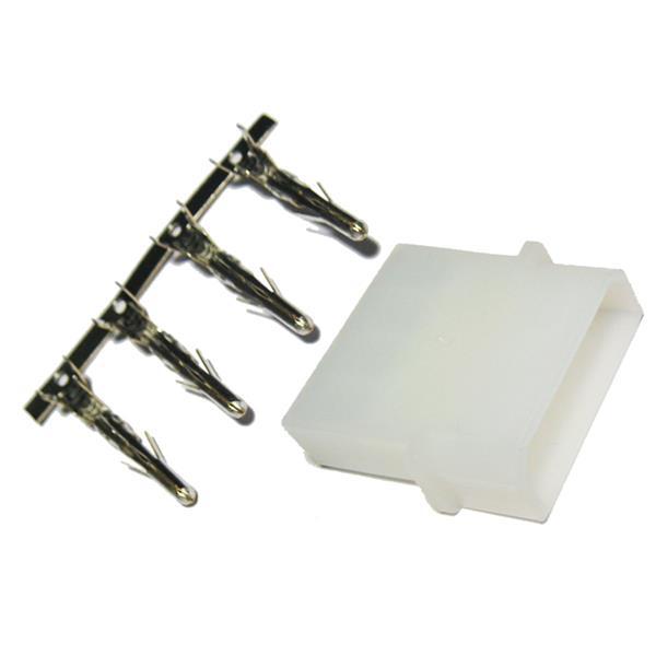 1 x Floppy-Buchse 5 1/4'' 4-polig - IDE Buchse