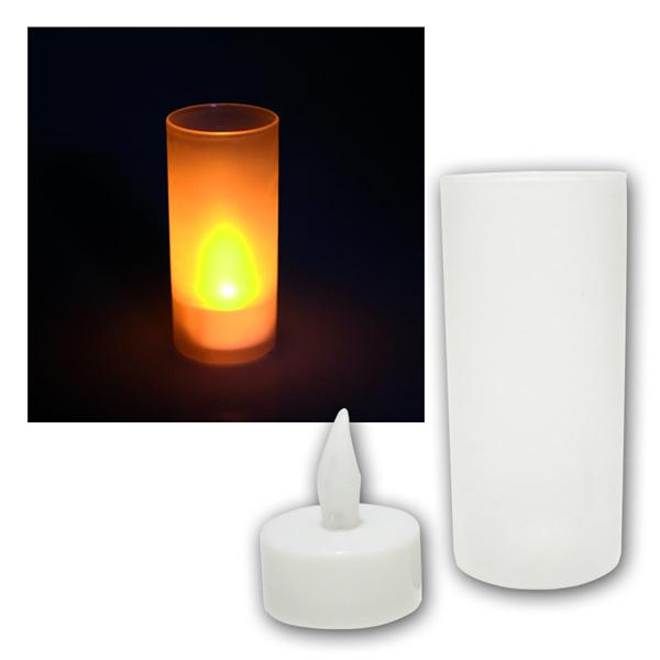 "LED Kerze McShine ""Safety Candle"" inkl. Windglas"