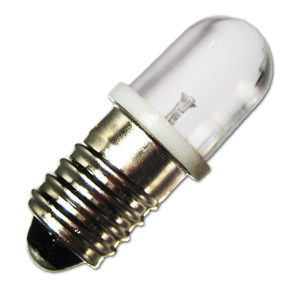 LED Glühbirne E10 12V mit mit dem Maß 11,5x28mm (ØxL) ideal auch für Taschenlampen