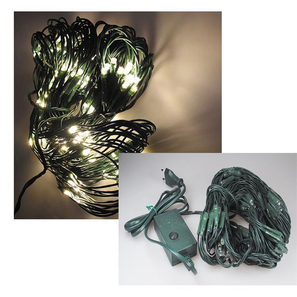 LED-Lichternetz mit 176 LEDs, warmweiß, für Innen