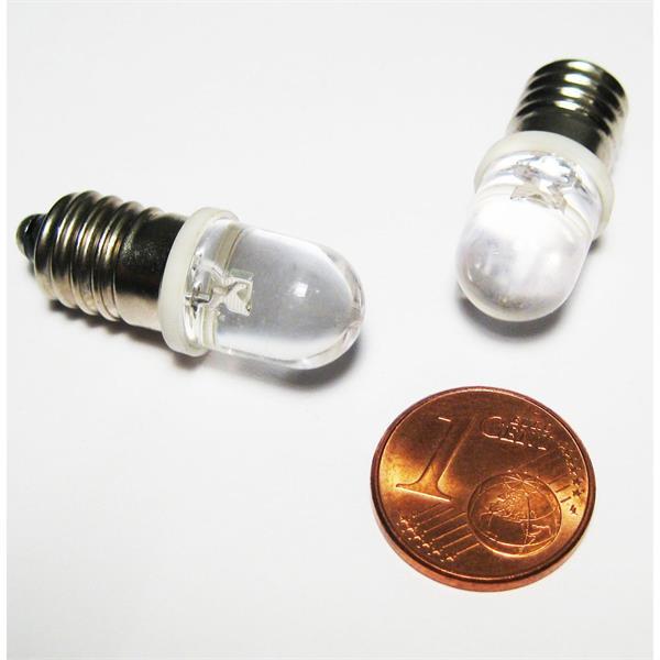 LED Energiesparlampe Sockel E10 für 12V DC mit nur ca. 0,3W Verbrauch
