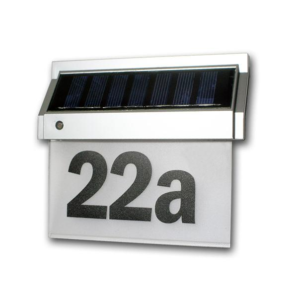 Solar Hausnummernleuchte mit LED 18x16x5cm