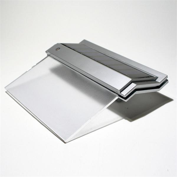 LED Hausnummerbeleuchtung Solar mit beleuchteter transparenter Acrylscheibe