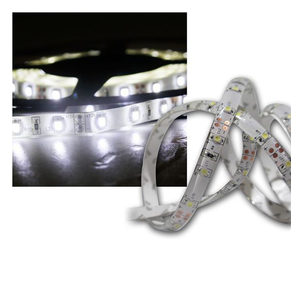 LED Lichtband 1m warmweiß IP44 12V DC PCB-weiß