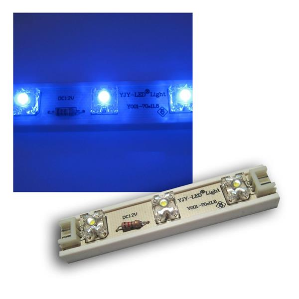 1m LED Strip 7 SuperFlux LED Module flex 12v BLAU