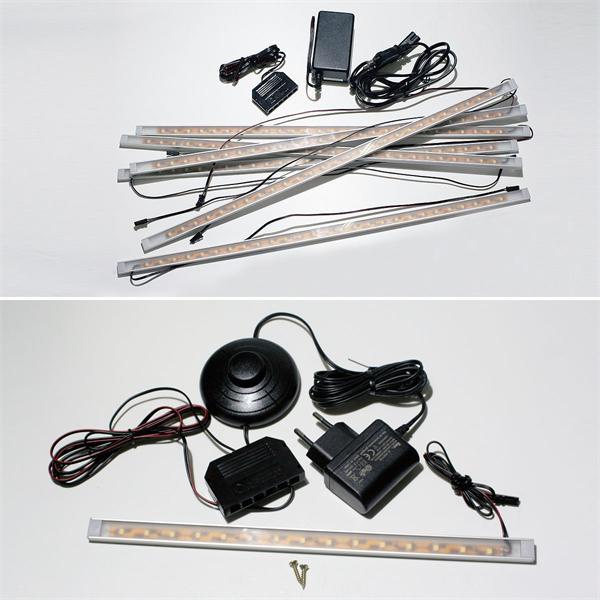 28 oder 50cm lange LED Lichtleisten in verschiedenen Sets