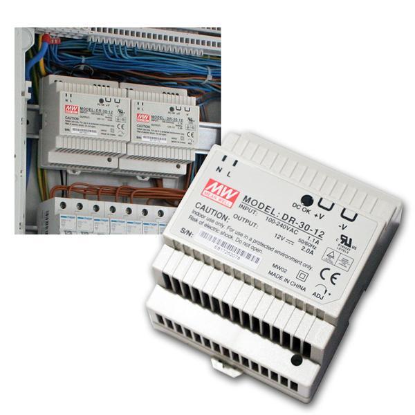 12V Transformator für DIN-Schiene, max. 24W/ 0-2A