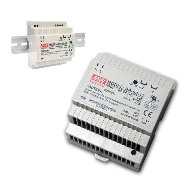 12V Transformator für DIN-Schiene, max.54W/ 0-4,5A