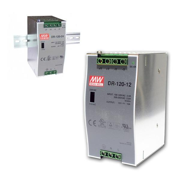 12V Transformator für DIN-Schiene, max.120W/ 0-10A