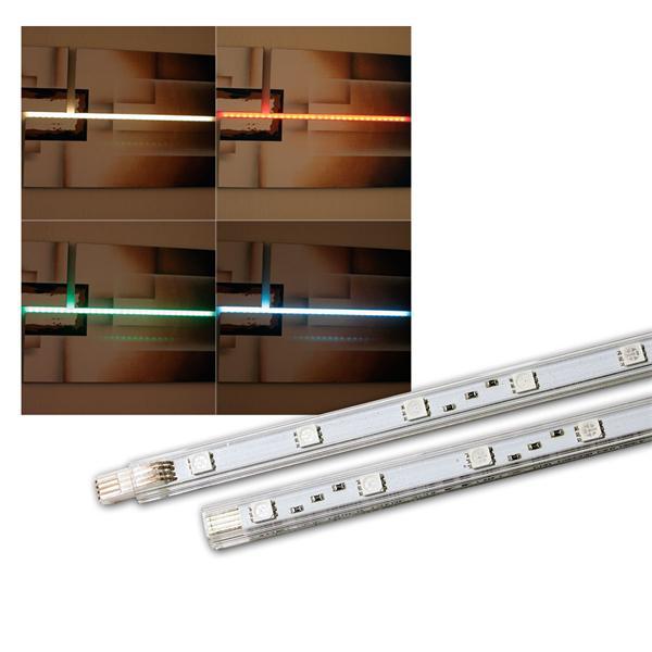 SMD Lichtleisten 2er Set, RGB, je 15 LEDs