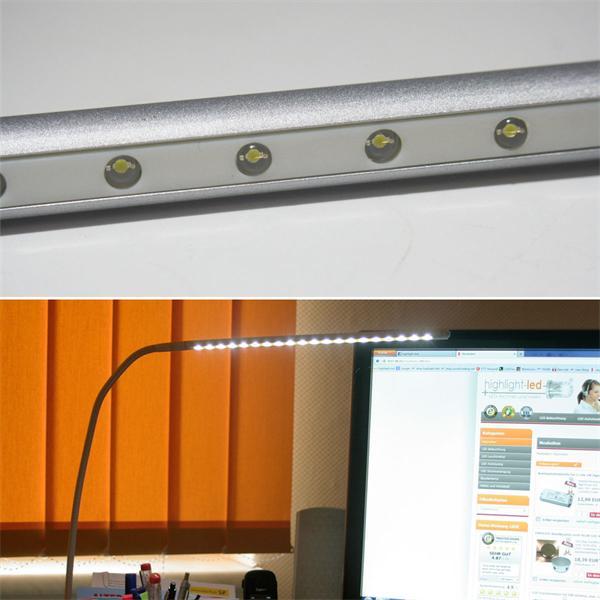 LED Tischleuchte mit 20 hellen LEDs und biegsamem Schwanenhals
