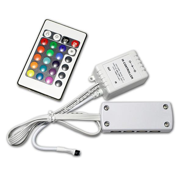 LED RGB Controller 3x2A IR FB mit Mini-Stecksystem