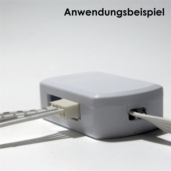 led verteiler 4 fach f r rgb 4 polig 50cm kabel. Black Bedroom Furniture Sets. Home Design Ideas